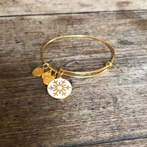Alex and Ani gold snowflake
